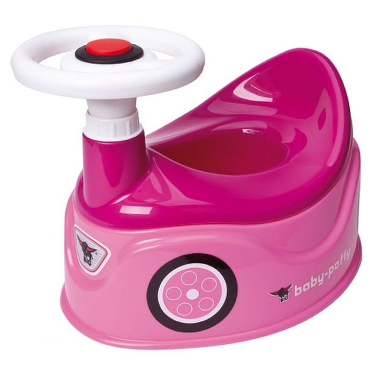 BIG Nočník s volantem růžový