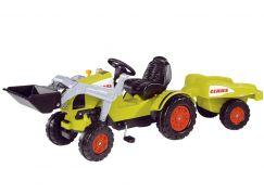 Big Šlapací traktor Claas se lžící a vozíkem