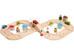 Bigjigs Rail Dřevěná autodráha osmička