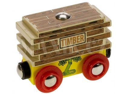 Bigjigs Vagon se dřevem