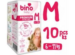 Bino Baby Premium Pleny vel. M 6-11kg 6x10 ks s dárkem