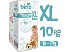 Bino Baby Premium Pleny vel. XL 10-17kg 6x10 ks s dárkem