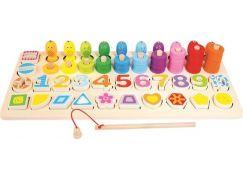 Bino Dětská dřevěná edukativní hra