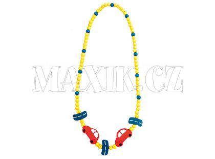 Bino Dřevěný náhrdelník - korále auto