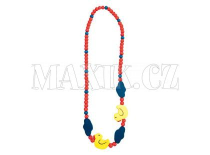 Bino Dřevěný náhrdelník - korále kachnička