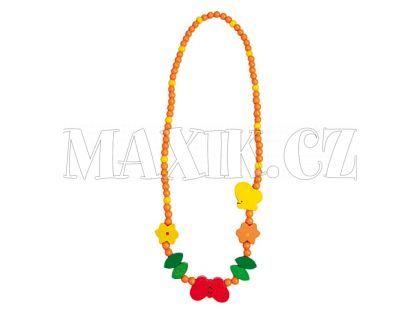 Bino Dřevěný náhrdelník - korále motýl