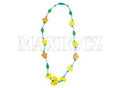 Bino Dřevěný náhrdelník - měsíc
