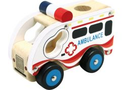 Bino Dřevěné auto Ambulance