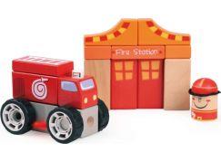 Bino Dřevěné kostky - hasiči