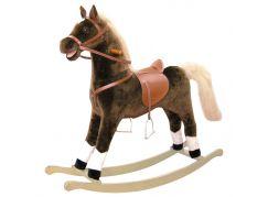 Bino Houpací kůň plyšový maxi hnědý - Poškozený obal