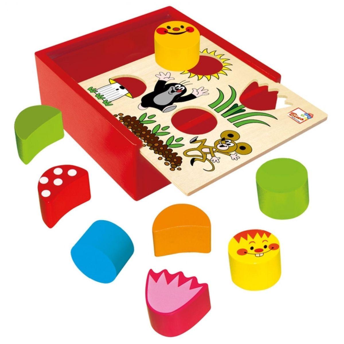 Bino Krabička s tvary - Krtek 10d