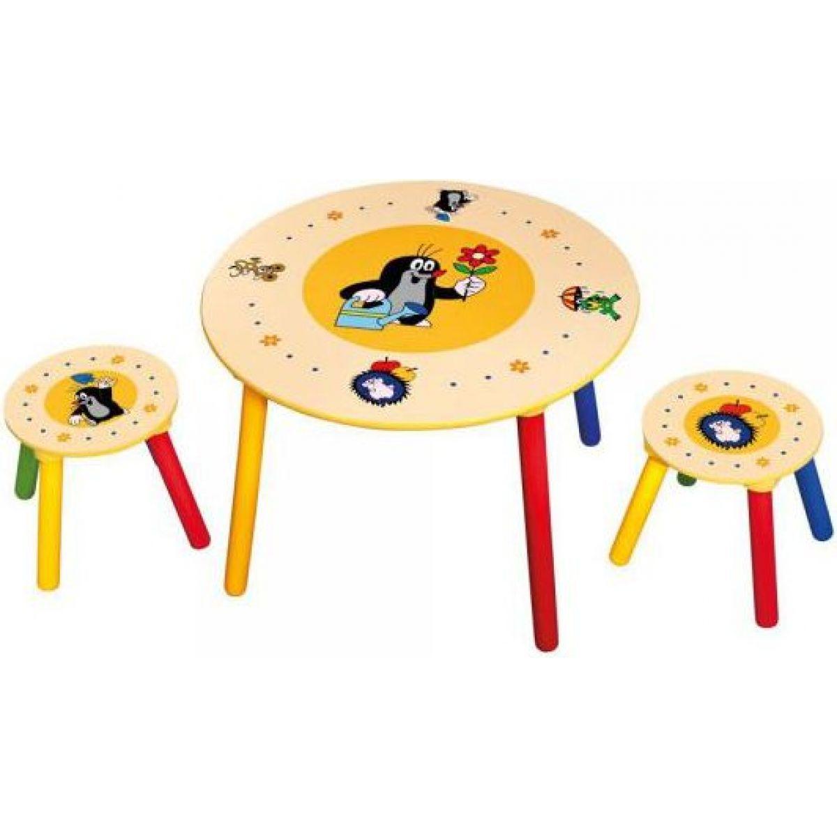 Bino Krteček Dětský stolek a 2 sedátka - Poškozený obal