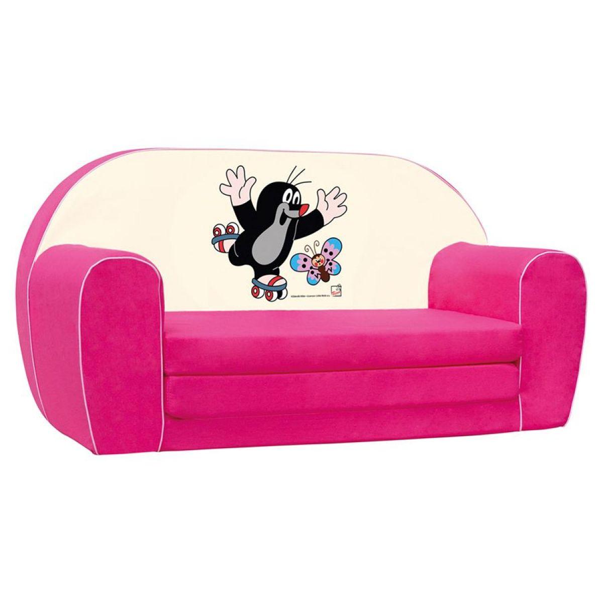 Bino Krteček mini pohovka růžová