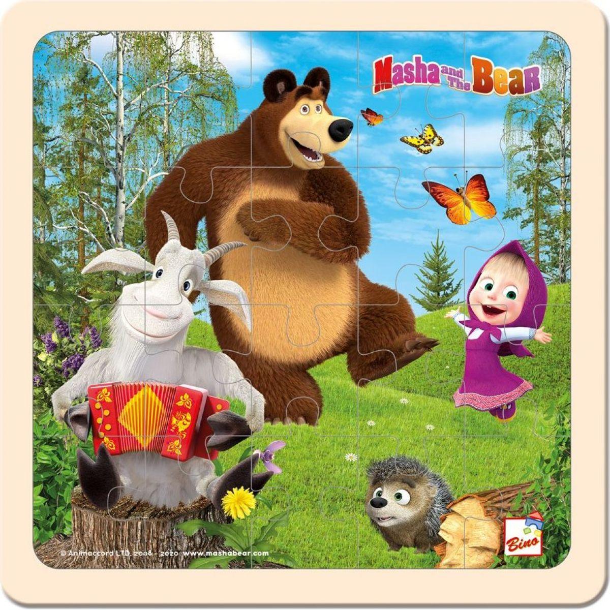 Bino Máša a medvěd puzzle s kozlíkem 20x20cm