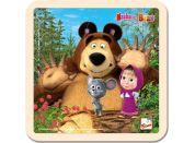 Bino Máša a medvěd puzzle s myškou 15x15cm