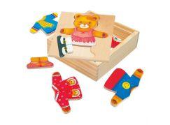 Bino Puzzle - šatní skříň - medvědice