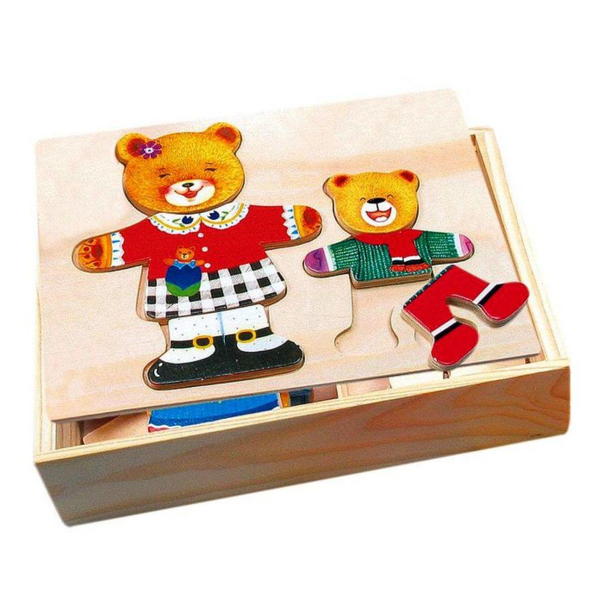 Bino Šatní skříň medvědice a medvídě