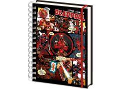 Blok A5 kroužkový linkovaný Deadpool