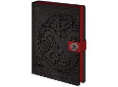 Zápisník A5 premium Hra o Trůny Targaryen