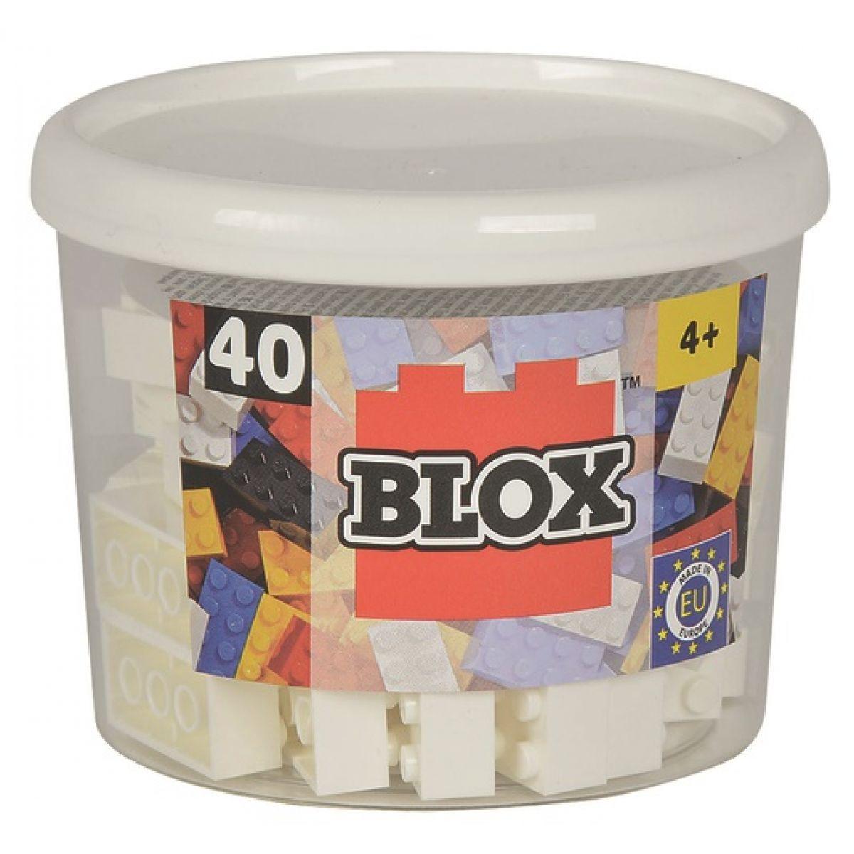 Blox 40 Kostičky bílé