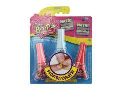 Bo-Po Sada 3 Lak na nehty růžová, modrá, červená