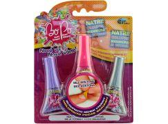 Bo-Po sada 3 voňavé laky na nehty fialová, tm. růžová, šedá