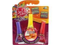 Bo-Po sada 3 voňavé laky na nehty fialová, žlutá, červená