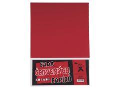 BOBO Sada červených papírů 50 listů