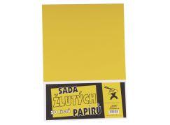 BOBO Sada žlutých papírů 50 listů