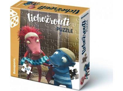 Bonaparte Lichožrouti Puzzle 100 dílků Hihlík a Žiletka