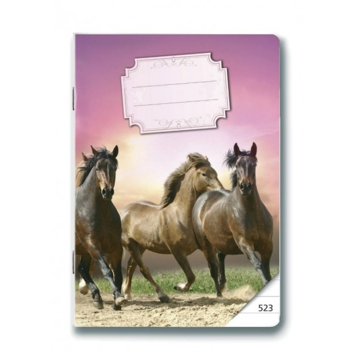 Bonaparte Sešit A5 523 Koně, 20 listů linkovaný