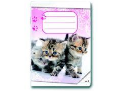 Bonaparte Sešit A5 523 Koťátka 20 listů linkovaný