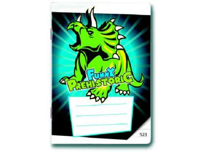 Bonaparte Sešit A5 523 Prehistoric Funny 20 listů linkovaný