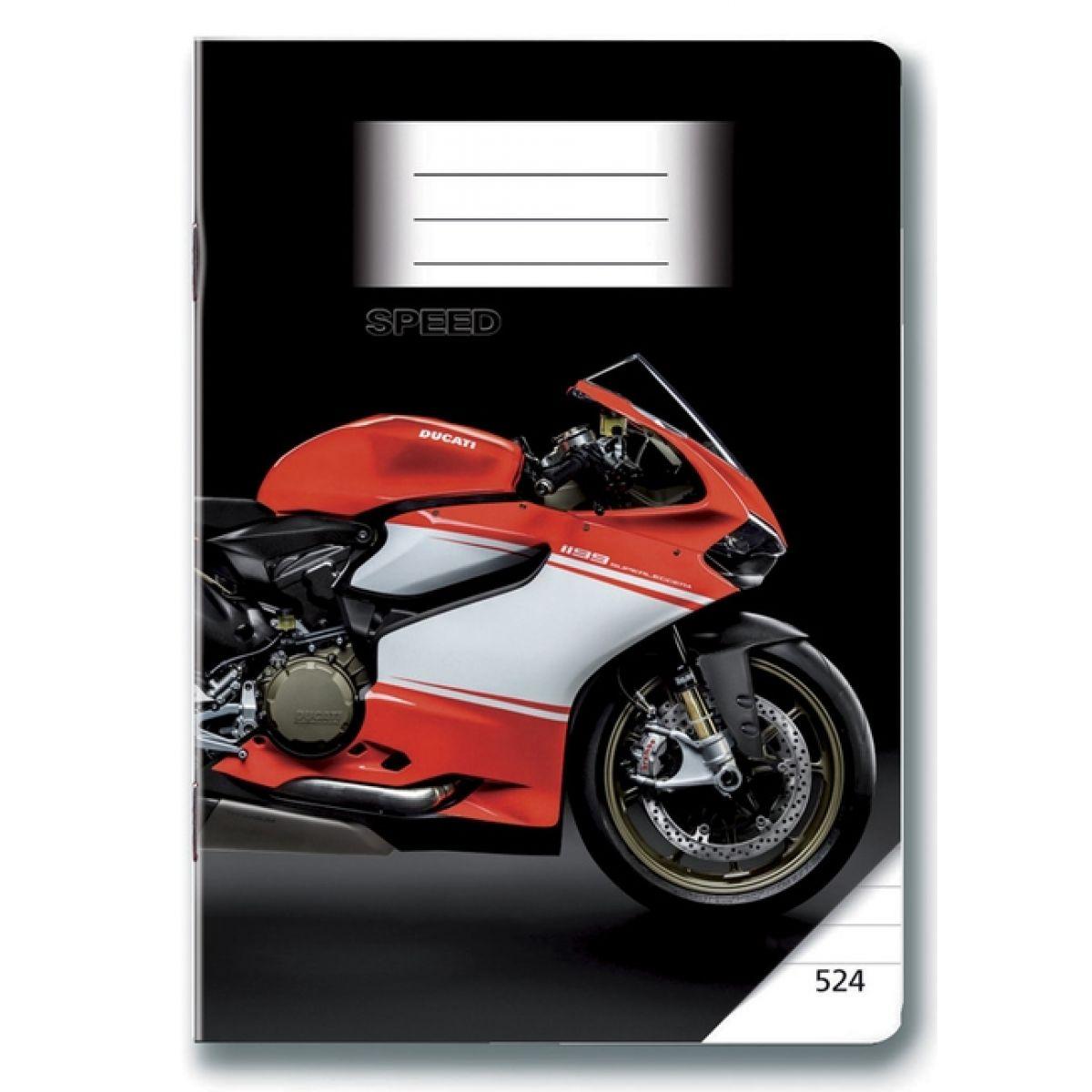 Bonaparte Sešit A5 524 Moto Speed, 20 listů linkovaný