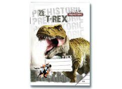 Bonaparte Sešit A5 524 Prehistoric 3D, 20 listů linkovaný