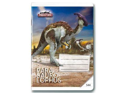 Bonaparte Sešit A5 544 Prehistoric 3D, 40 listů linkovaný
