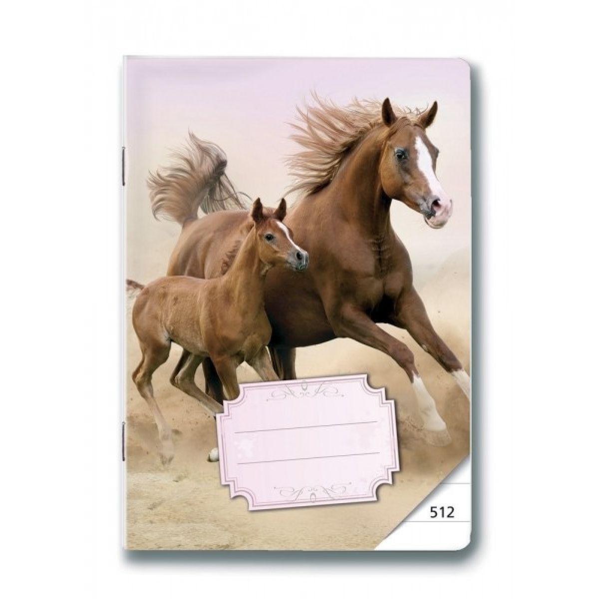 Bonaparte Sešit A5/512 Koně, 10 listů linkovaný