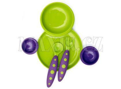 Boon Kompletní jídelní sada zeleno-fialová B257