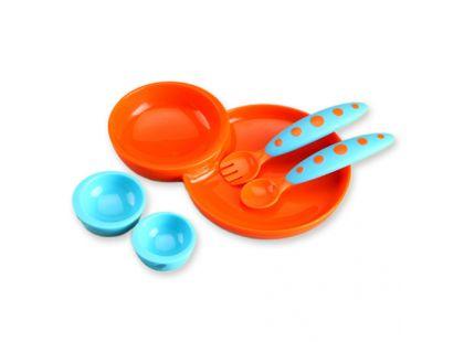 Boon Kompletní jídelní sada modro-oranžová B247