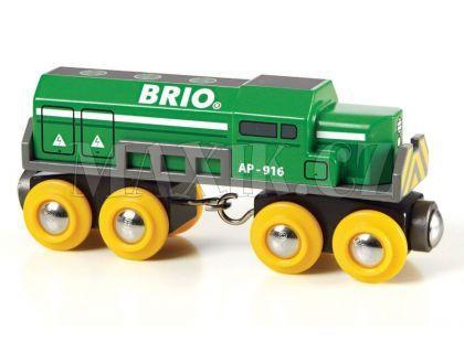Brio Dopravní lokomotiva zelená