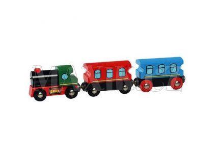 Brio Lokomotiva s 2 osobními vagóny