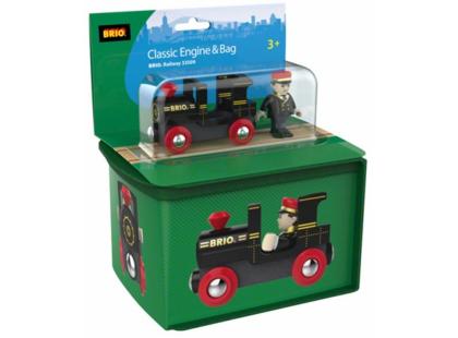 BRIO Lokomotiva s panáčkem v cestovní tašce