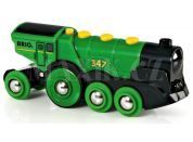 Brio Mohutná elektrická zelená lokomotiva se světly