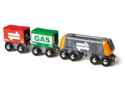 Brio Nákladní lokomotiva se 2 vagonky