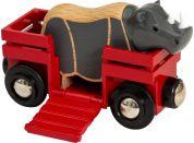 Brio World 33968 Nosorožec a vagónek