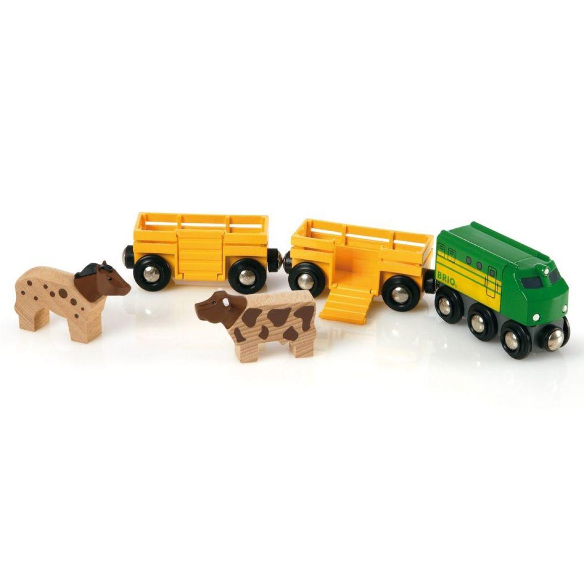 Brio Zemědělský vlak pro přepravu zvířat