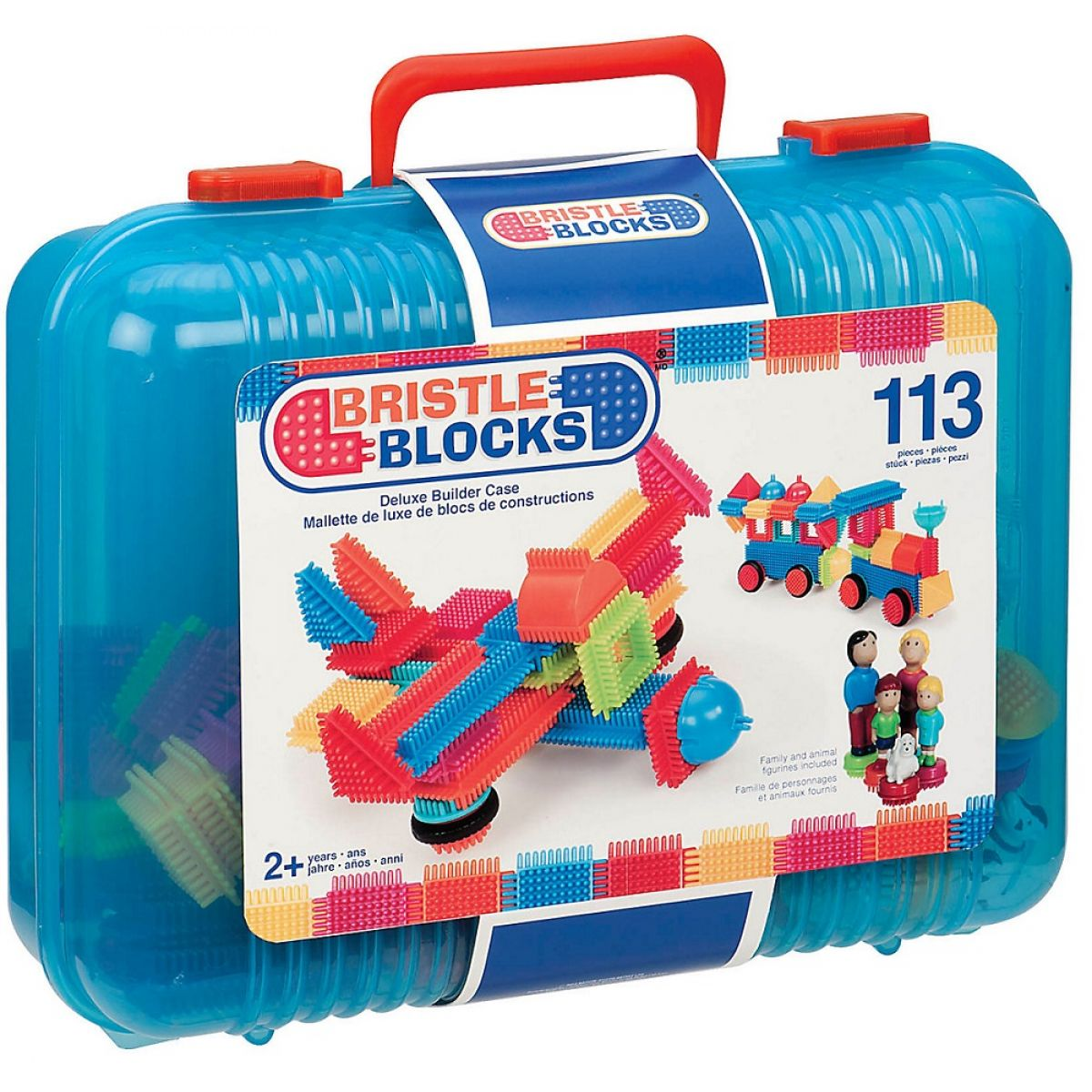 Bristle Blocks Stavebnice v kufříku 113ks