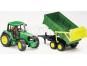 Bruder 01134 Traktor John Deere 6920 s přívěsem a přední lžící 2