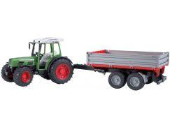 Bruder 02104 Traktor FENDT Farmer + vůz