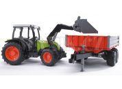 Bruder 02112 Traktor Claas Nectis+čelní nakladač+sklápěcí vůz